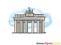 Berlin images – Porte de brandebourg  clipart