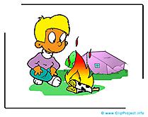 Camping images - Bûcher clip art gratuit