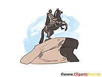 Cavalier de bronze clipart gratuit à télécharger