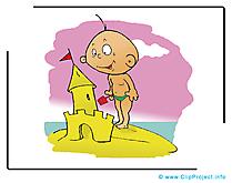 Château de sable dessin gratuit à télécharger