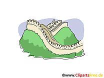 Chine clipart gratuit - Grande muraille cartes gratuites
