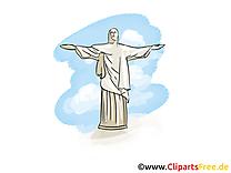 Christ Rédempteur image - Rio de Janeiro cliparts