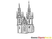Coloriage Cathédrale  dessins gratuits à télécharger