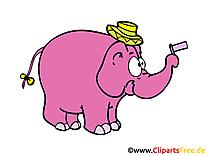 Éléphant illustration - Cirque images gratuites
