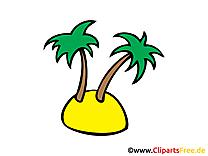 Île image à télécharger - Palmier clipart