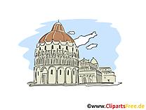 Italie dessin gratuit - Cathédrale image gratuite