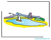 Lac clip art – Voilier image gratuite