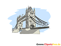 Londres jolie carte - Tower Bridge images gratuites