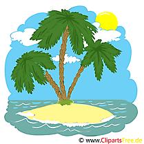 Mer dessin gratuit à télécharger - Palmier image