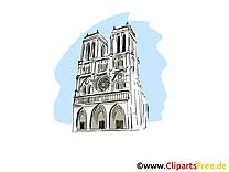 Notre Dame de Paris clip art gratuit - Paris image