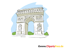 Paris images - Аrc de triomphe clip art gratuit