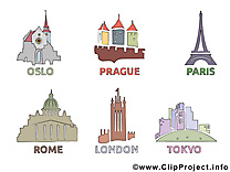 Paris Londres dessin - Prague Rome images