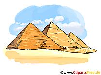Pyramides clipart gratuit - Egypte cartes gratuites