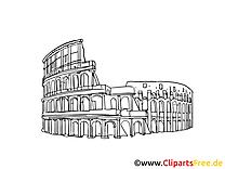 Rome clipart gratuit - Colisée cartes gratuites