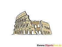 Rome illustration gratuite - Colisée clipart