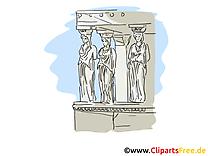 Statues grecques clipart gratuit - Grèce images
