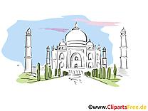 Taj mahal carte à télécharger - Inde image