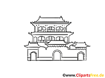 Temple cliparts gratuis - Chine images gratuites