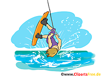 Wakeboard dessin gratuit - Mer image gratuite