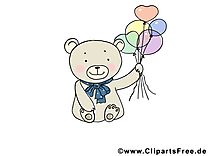 Ballons ours dessins gratuits – Animal clipart