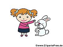Fille lapin dessin gratuit – Animal image
