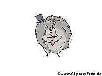 Hérisson animal illustration à télécharger gratuite