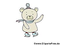 Patins à glace clip arts gratuits – Animal illustrations