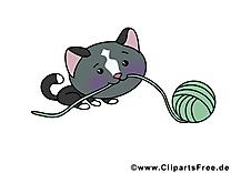 Pelote chat cliparts gratuis – Animal images