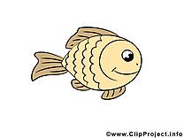 Poisson clip arts gratuits – Animal illustrations