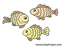 Poissons clip arts gratuits – Animal illustrations