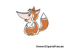 Renard cliparts gratuis – Animal images