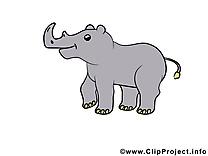 Rhynocéros illustration gratuite – Animal clipart