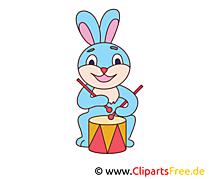 Tambour lapin clipart – Animal dessins gratuits